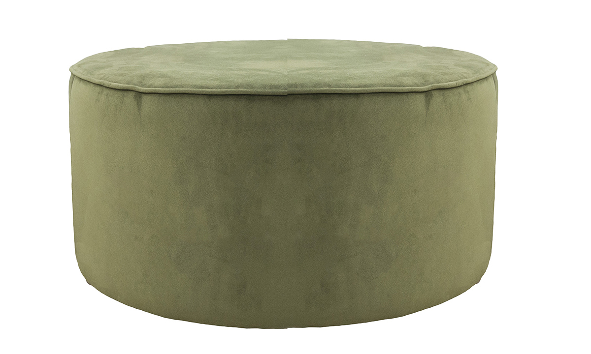 Jupiter Footstool in Plush Vine, Gold Collection Fabric