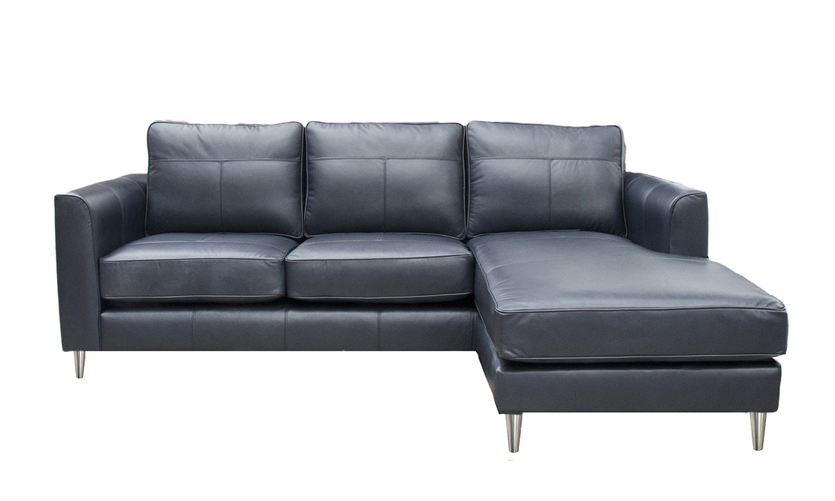 Leather Nolan Chaise End - Leather Sofas and Chairs Range - Finline ...