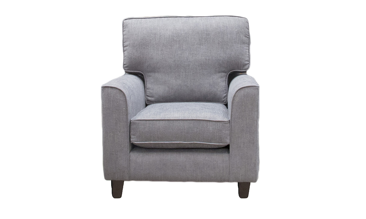 Leon Chair in C.Pearl Slate, Bronze Collection Fabric