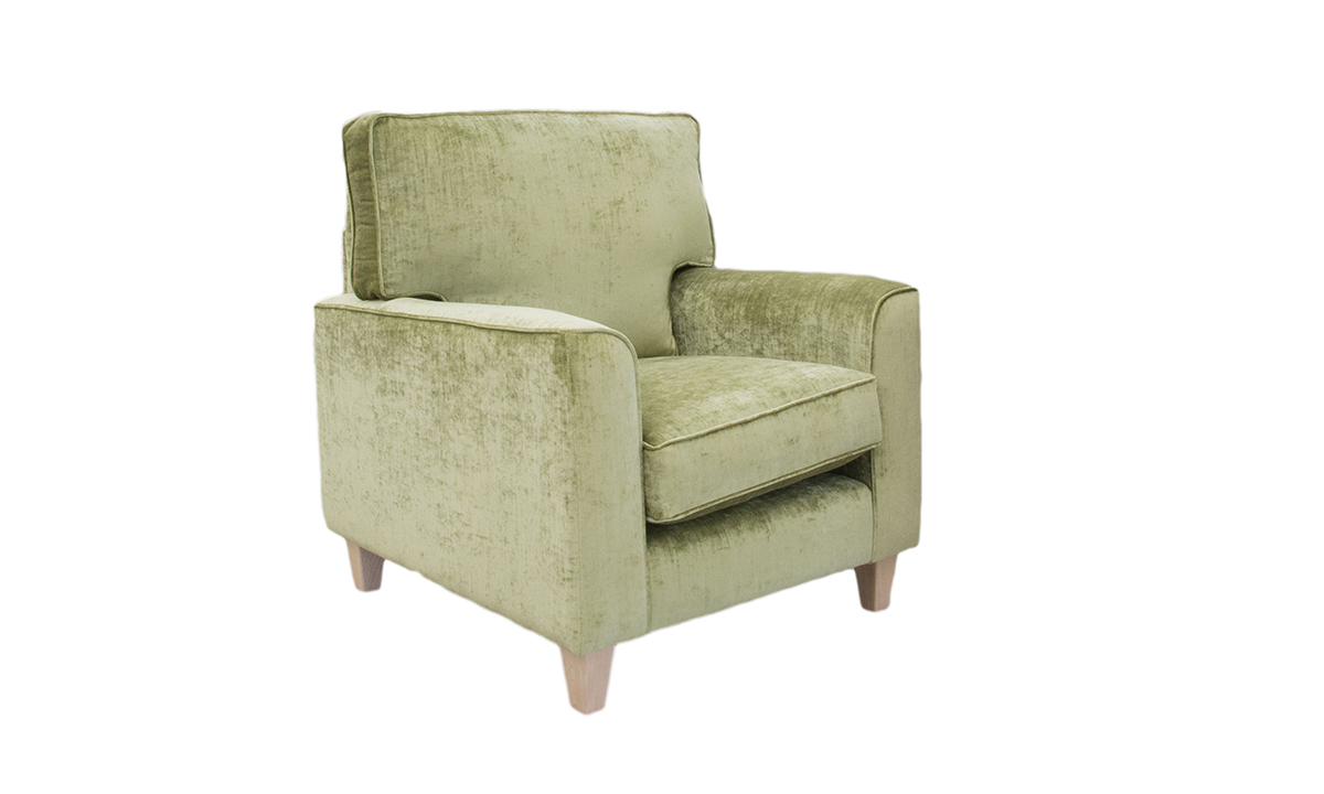 Leon Chair in Mancini Citrus, Gold Collection Fabric
