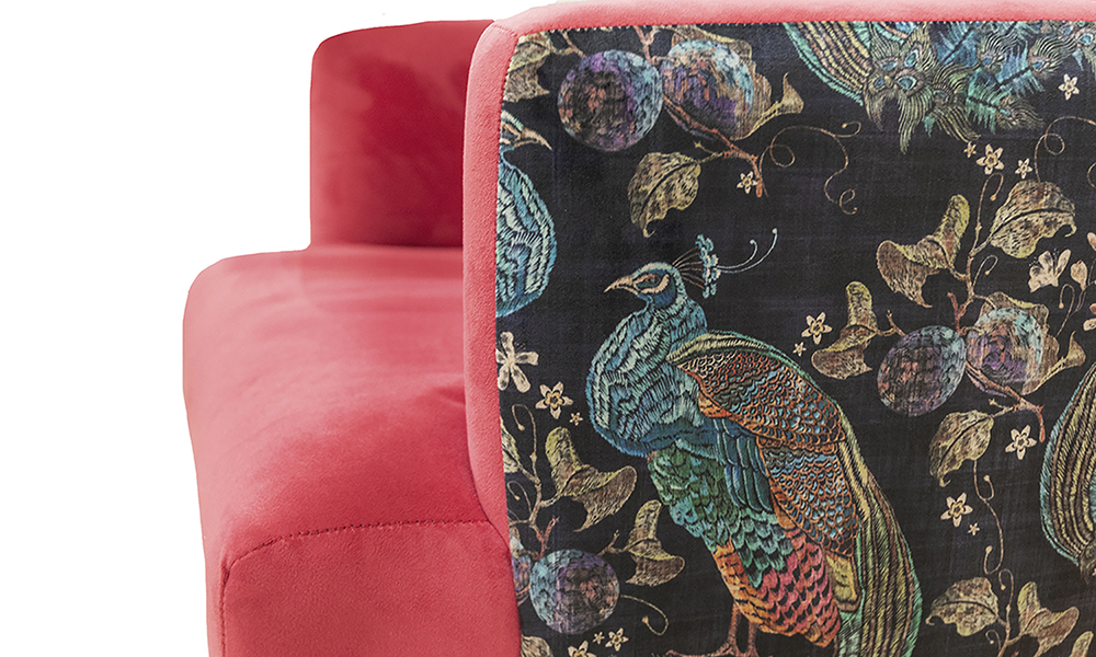 Lisa-Chair-in-Plush-Peony-Silver-Collection-Fabric-Panel-in-Peacock-Navy-Platinium-Collection-Fabric