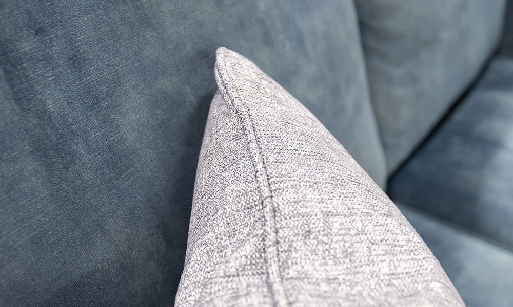 Louis Scatter cushion in Spencer Steel
