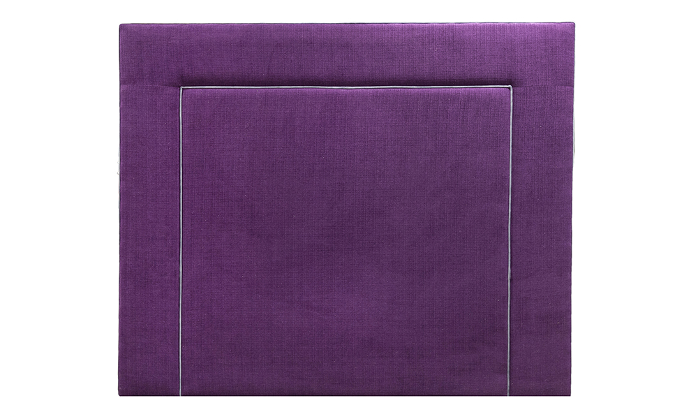 Monaco 6ftx5ft Headboard in JBrown Hendrix 702 Aubergine, Gold Collection Fabric - 405603