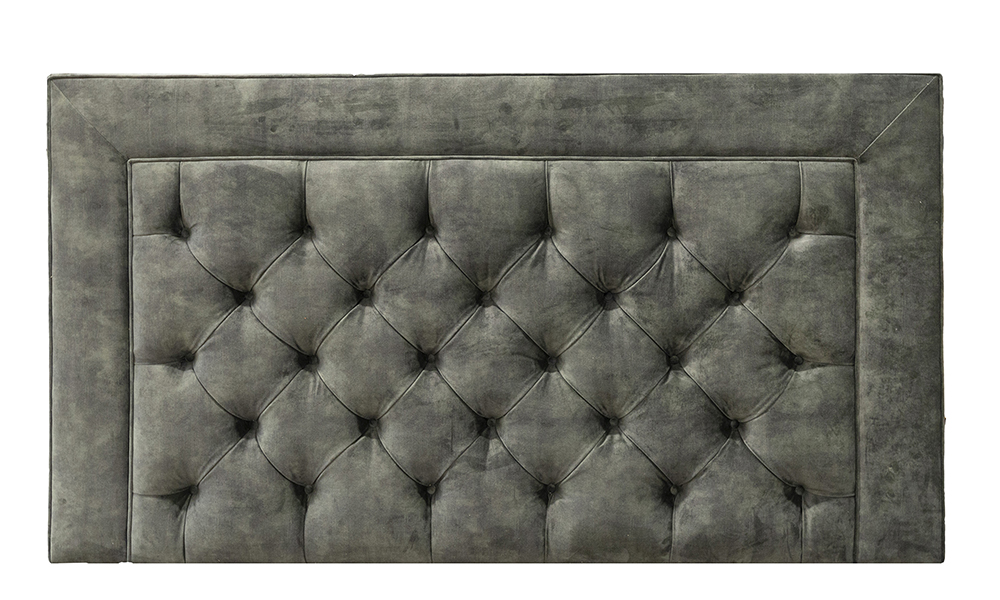 Monaco Deep Button 6ft Headboard, Lovely Jade, Gold Collection Fabric - 405654
