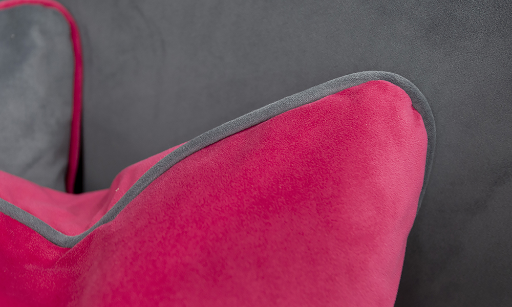 Nolan 2 Seater in Plush Peony, Silver Collection