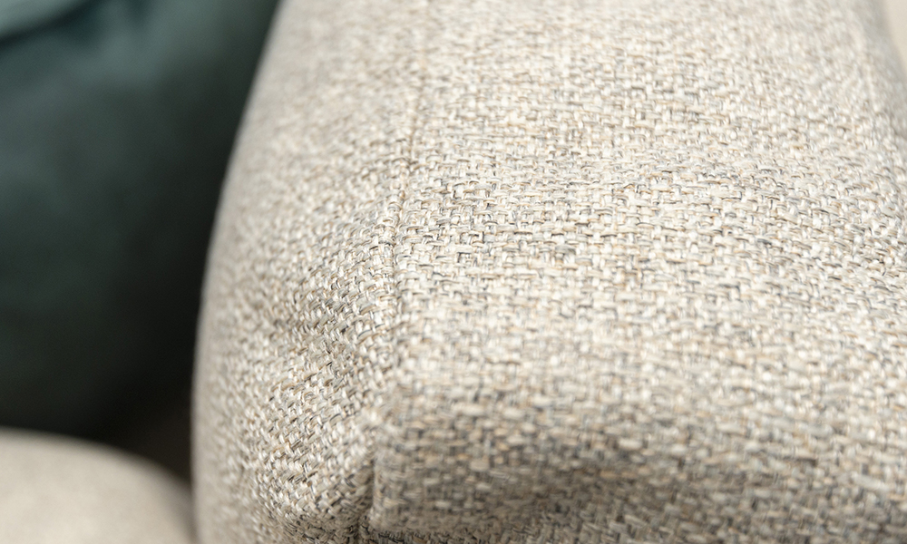 Nolan 3 Seater Sofa, Back Cushion, in Luca Beige, Bronze Collection Fabric