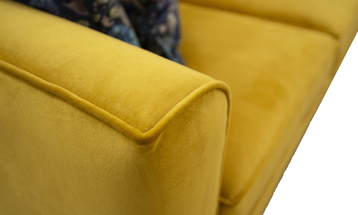 Arm Detail, Warwick Turmeric, Silver Collection Fabric