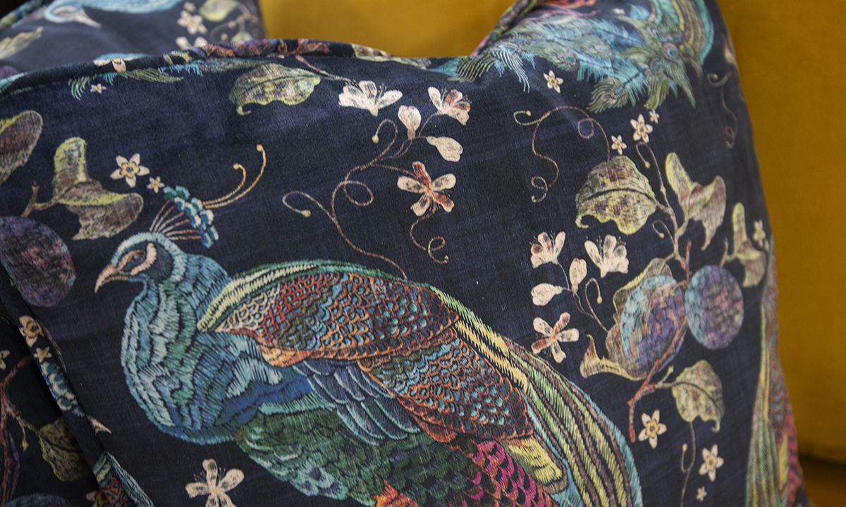 Scatter Cushion in Peacock Nay, Platinum Collection Fabric