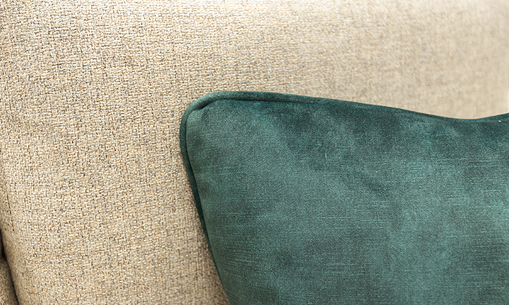 Nolan Scatter Cushion in Plush Hunter, Silver Collection Fabric