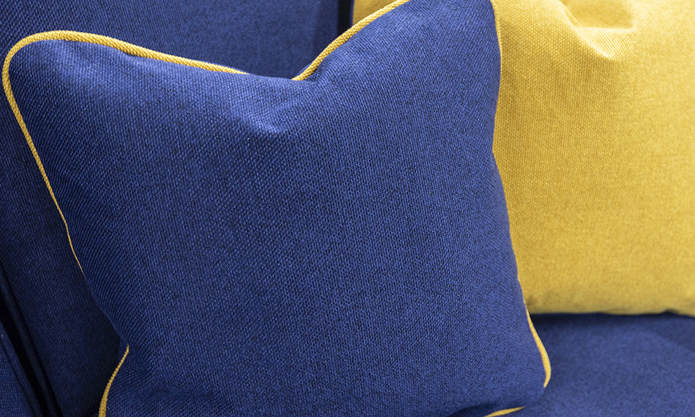 Nolan Scatter Cushion in Soho Mustard, Silver Collection Fabric