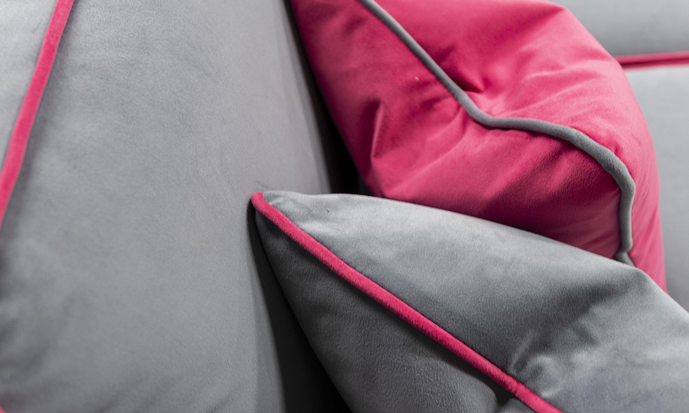 Nolan Scatter Cushions in Plush Nickel, Silver Collection