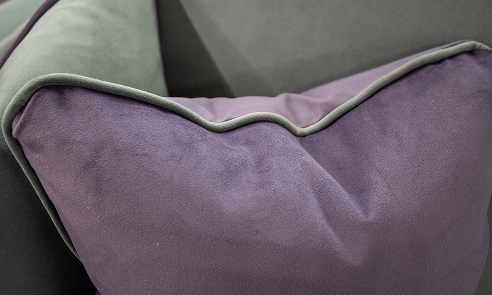 Nolan Scatter in Plush Amethyst, Silver Collection