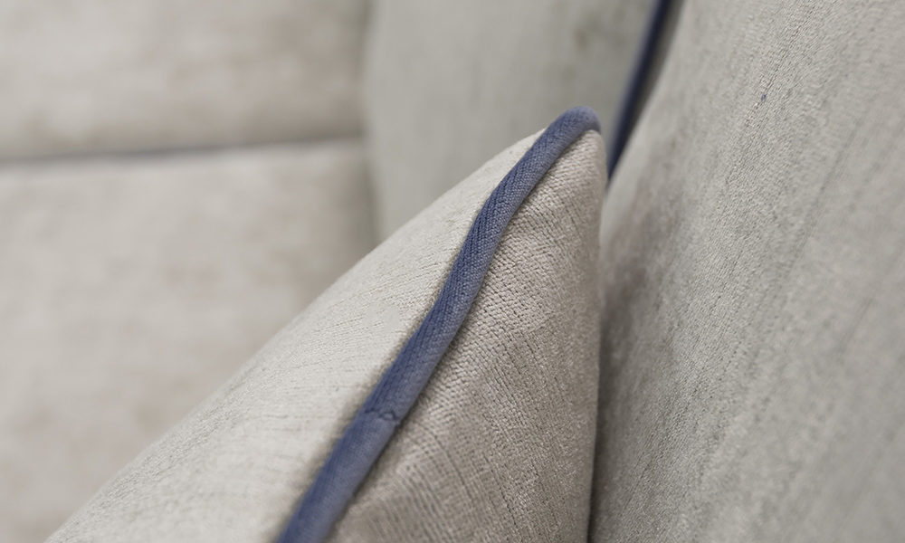 Scatter Cushion in Edinburgh French Grey, Silver Collection Fabric