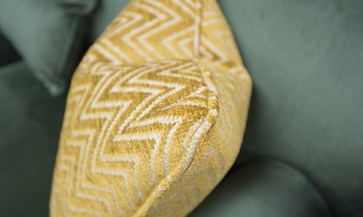 Scatter Cushion in Piper Gold, Gold Collection Fabric