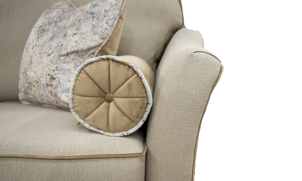 Arm Detail in Aosta Linen, Silver Collection Fabric