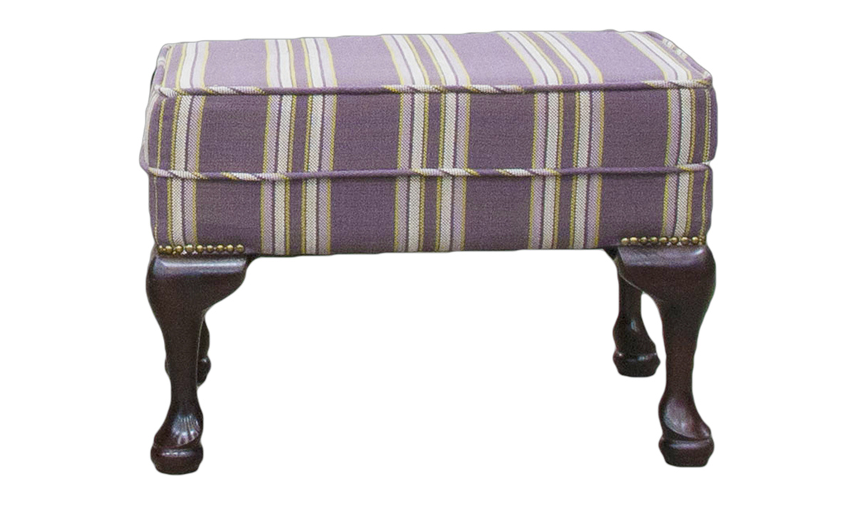 Queen Anne Footstool in Discontinued Fabric