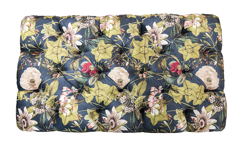 Deep Button Ottoman in Customers Own Fabric