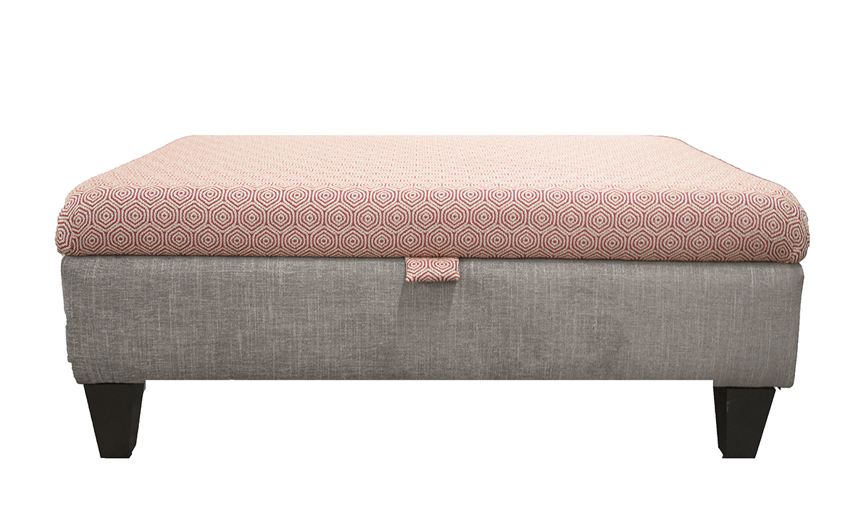 Storage Ottoman Footstool in Customers own Fabric
