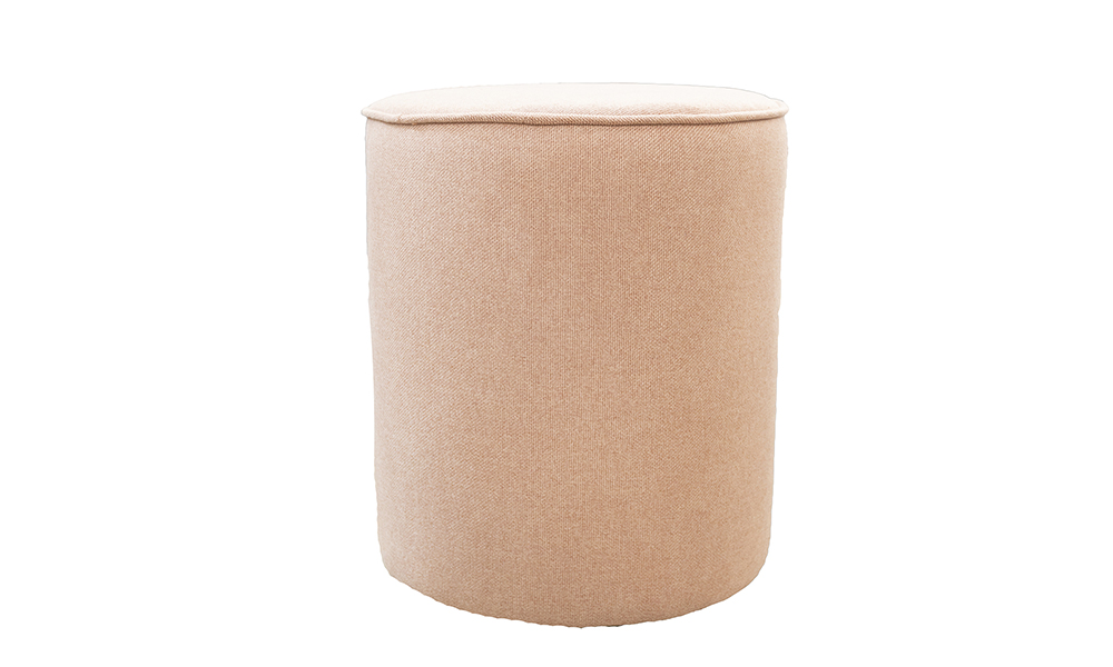 Pluto Footstool in Soho Blush Silver Collection Fabric