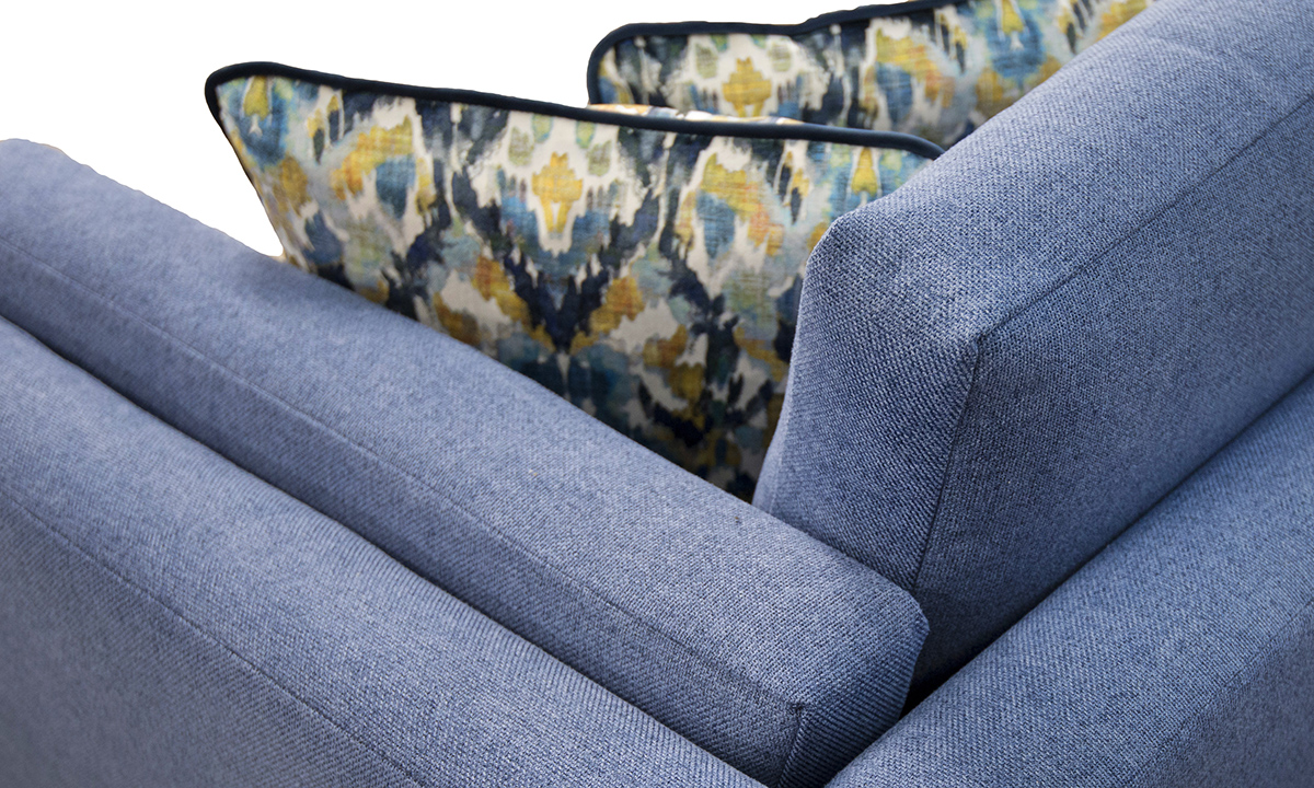 Detail in Soho Blue, Silver Collection Fabric