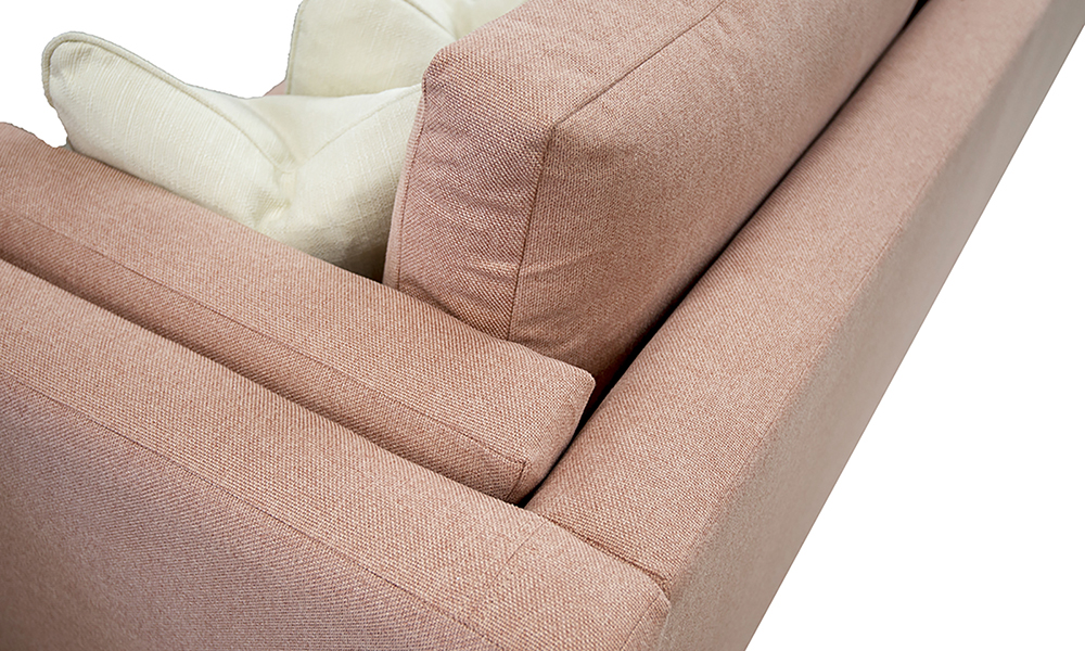 Back Cushion Detail in Soho Blush, Silver Collection