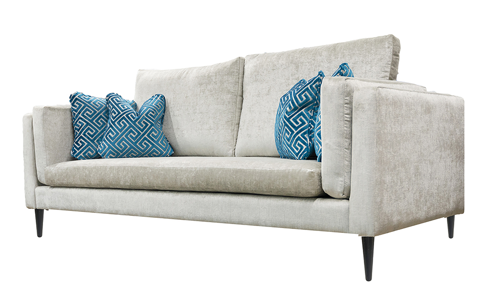 Sebastian 3 Seater Sofa in Edinburgh French Grey, Silver Collection Fabric