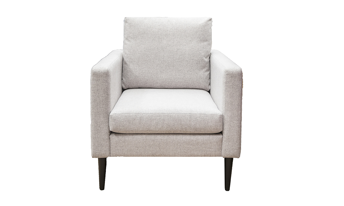 Sebastian Chair in Luca Light Grey, Bronze Collection Fabric