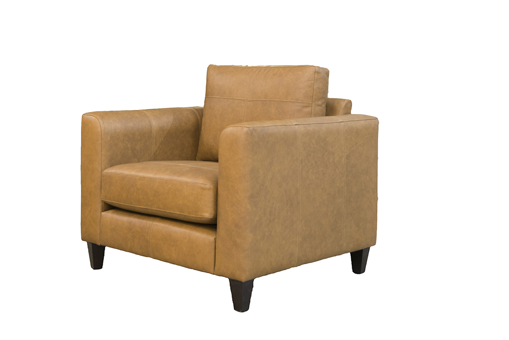 Leather Solo (Nolan) Chair in Origin Pyramid Leather